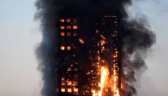 Врезультате мощного пожара внебоскребе Лондона пострадали 15человек