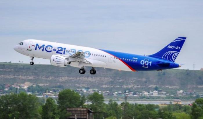 В Иркутске самолет МС-21 совершил свой второй полет