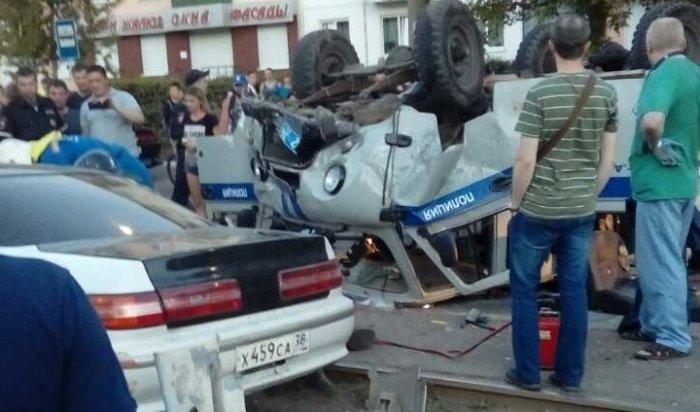 Полицейский, пострадавший вДТП вАнгарске, вышел изкомы