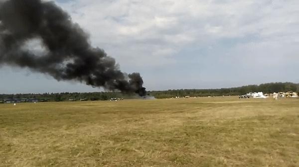 На авиашоу в Подмосковье разбился самолет Ан-2 (Видео)