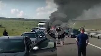 Под Воронежем произошла авария с участием 30 автомобилей
