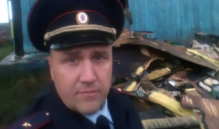 В Иркутском районе полицейский спас из пожара избирательные бюллетени