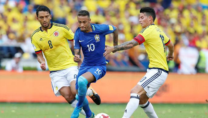 Сборные Колумбии и Бразилии сыграли вничью в отборочном матче ЧМ-2018