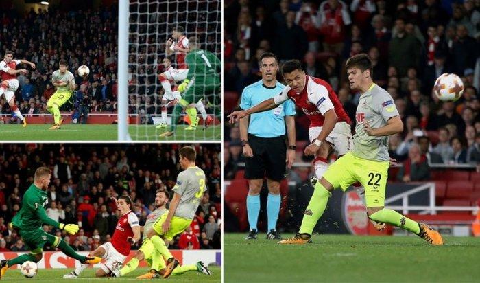 «Арсенал» одержал победу встолице Англии вотложенном матче Лиги Европы у«Кёльна»