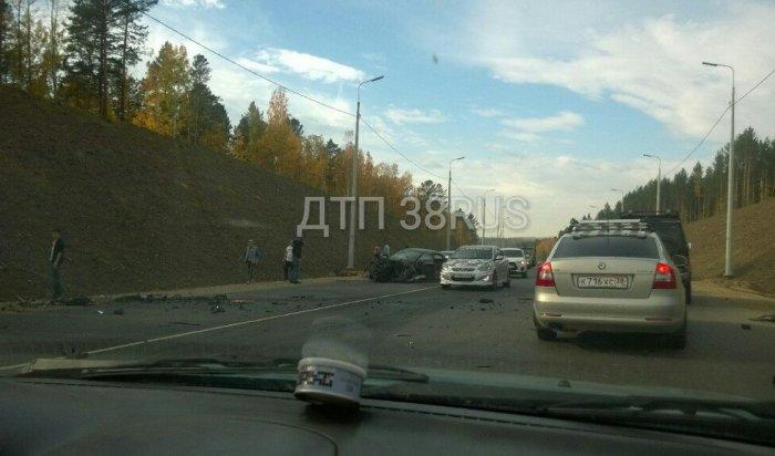 4 человека пострадали вДТП счетырьмя автомобилями под Иркутском