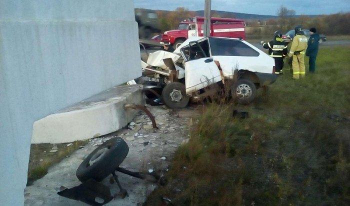 В результате аварии на въезде в Нижнеудинск погиб водитель автомобиля «ВАЗ-2108»