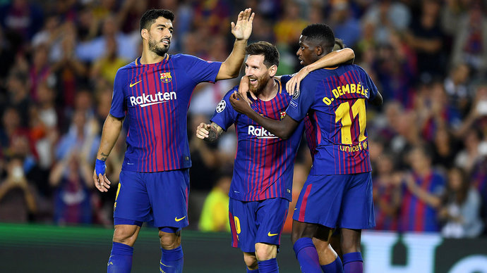«Барселона» разгромила «Лас-Пальмас» вматче чемпионата Испании