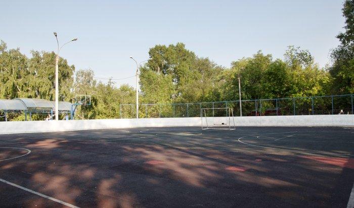 В Иркутске ведется обустройство спортивных площадок на территории школ