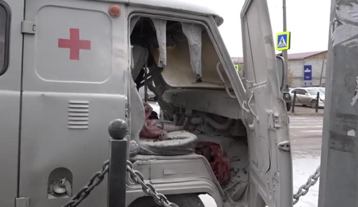 В Черемхово на ходу загорелась машина скорой помощи (Видео)