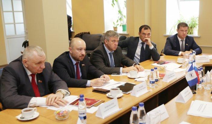 Сергей Левченко провёл встречу с депутатами Госдумы от Иркутской области