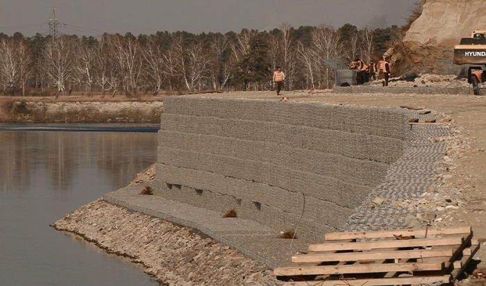 В Ангарске работы на по укреплению берега реки Китой ведутся с опережением графика
