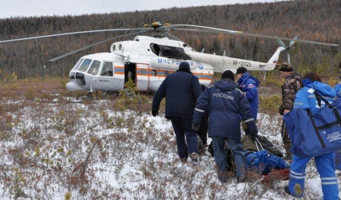 Cотрудники экстренных служб МЧС эвакуировали охотников изтайги