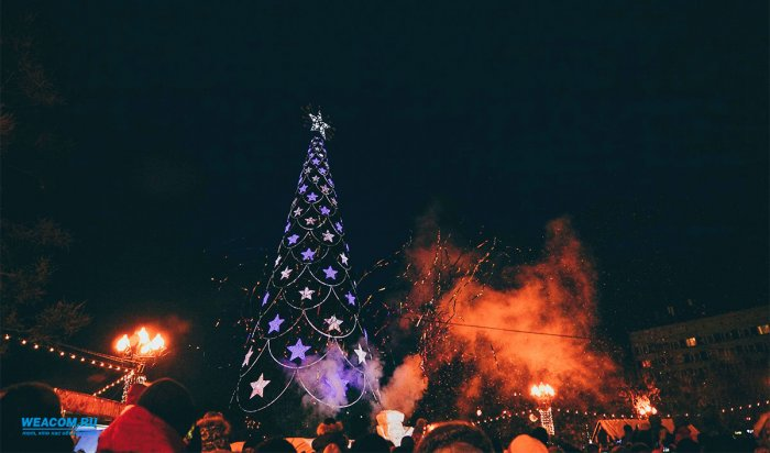 В этом году у главной елки в Иркутске будет новое цветовое оформление