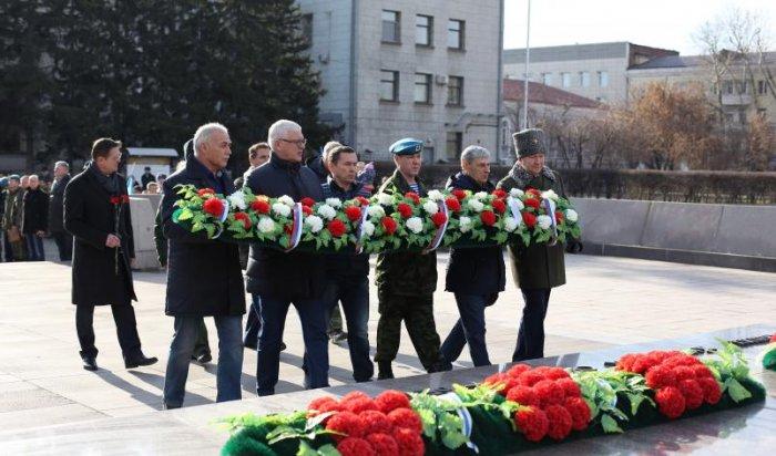 В Иркутске прошел митинг, посвященный Дню военной разведки