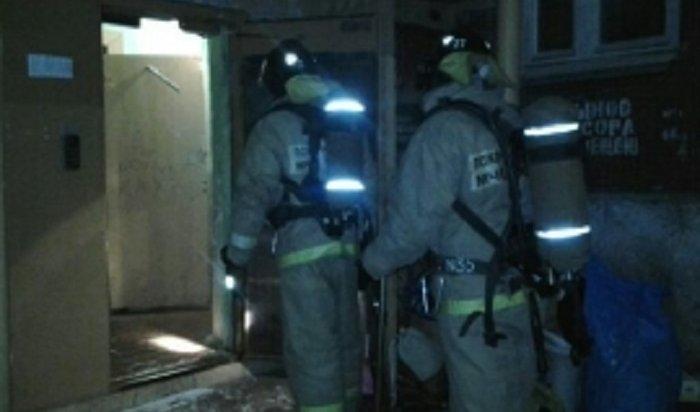 ВИркутске огнеборцы спасли напожаре вдоме поулице Карла Либкнехта 13человек