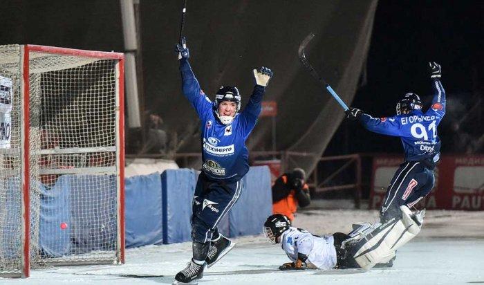 «Байкал-Энергия» обыграла «Волгу» со счетом 5:3 в чемпионате России по хоккею с мячом