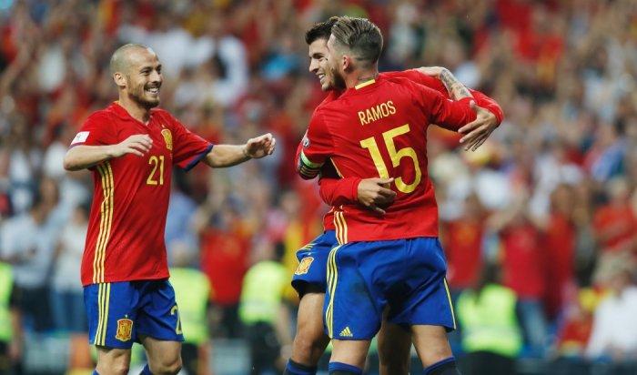 Сборная России сыграла вничью с испанцами