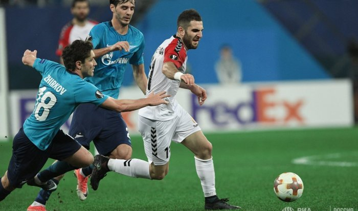 Петербургский «Зенит» обыграл македонский «Вардар» вматче Лиги Европы