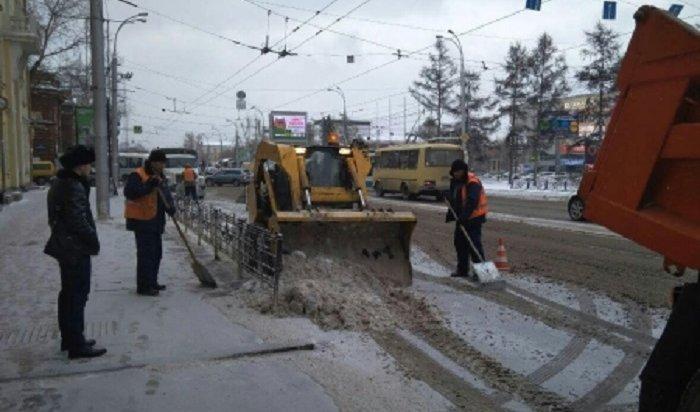 Жители Иркутска могут пожаловаться нанекачественную уборку снега водворах