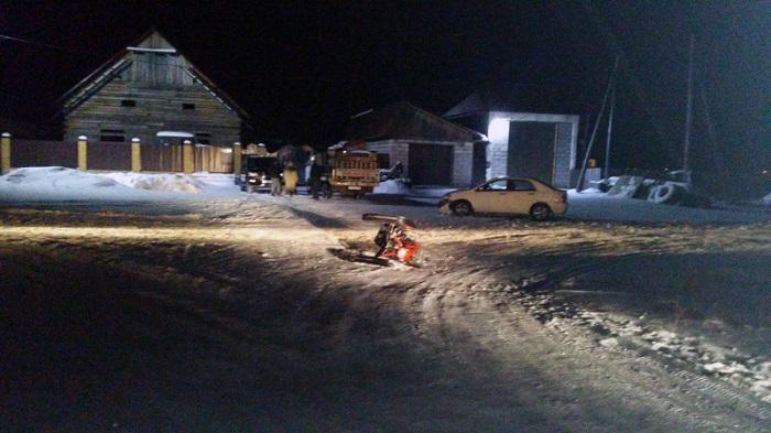 ВТайшете из-за пьяного мужчины вДТП пострадали водитель ипассажир снегохода