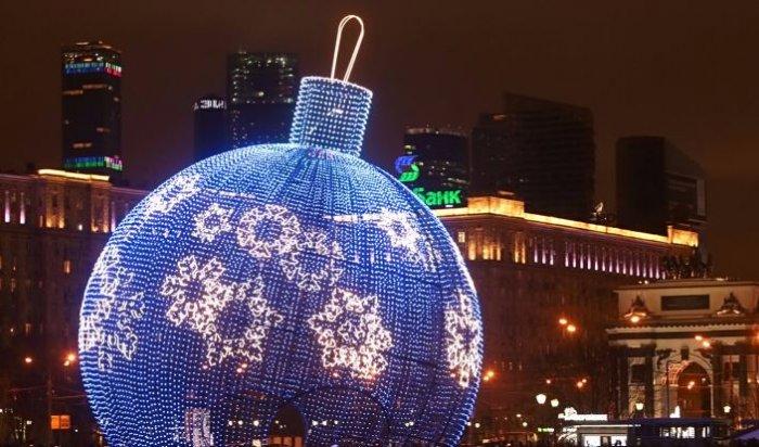 ВМоскве начали собирать самый большой ёлочный шар вмире