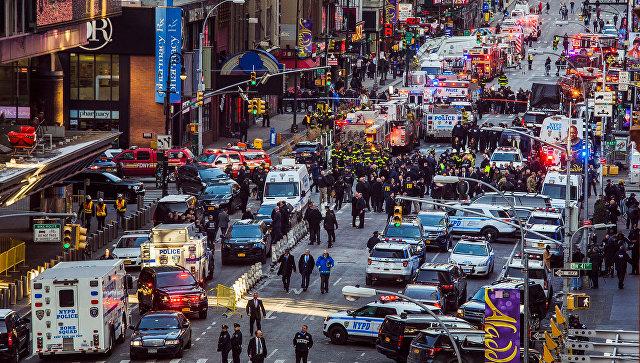 ВНью-Йорке вподземном переходе прогремел взрыв