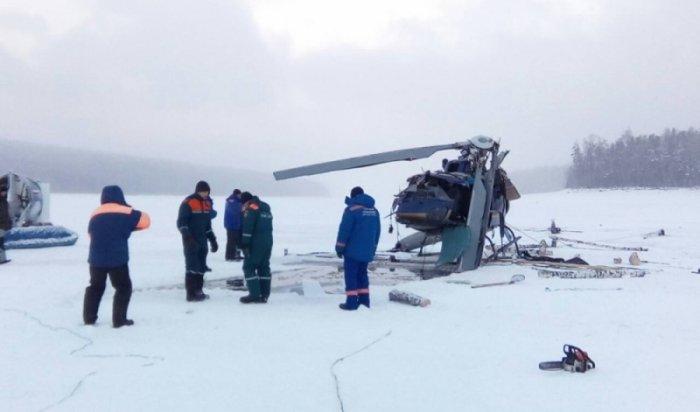 Содна Братского водохранилища поднят вертолет АS-350 (Видео)