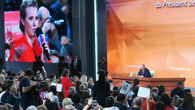 Путин напресс-конференции ответил навопрос Собчак оНавальном
