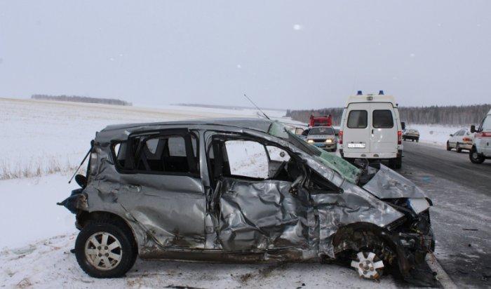 МЧС: Автоавария сучастием рейсового автобуса и грузового автомобиля произошла вИркутской области