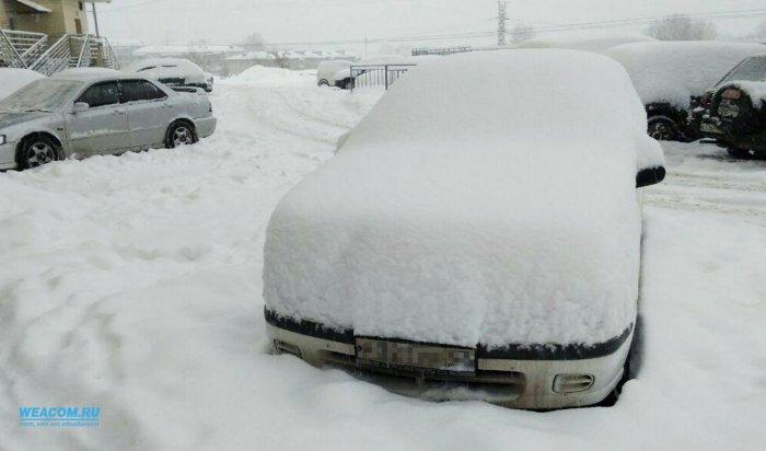 В Иркутске такого сильного снегопада не было с декабря 1969 года