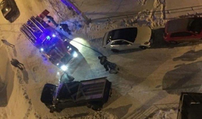 В Иркутске на проспекте Маршала Жукова горел автомобиль Ford