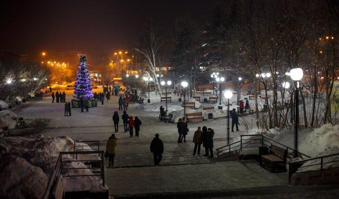 В Иркутске на бульваре Постышева открылась главная ёлка Октябрьского округа