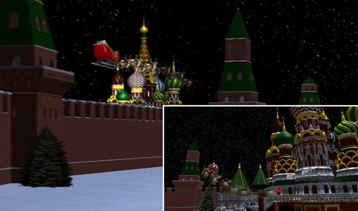 Санта-Клаус пролетел над Москвой иПетербургом