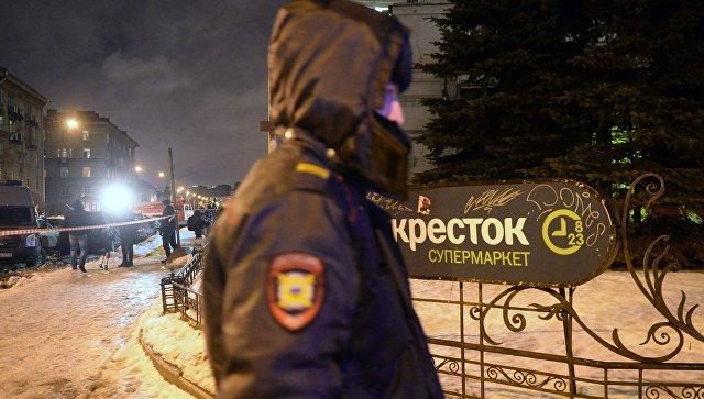 Всупермаркете вСанкт-Петербурге прогремел взрыв, 10человек пострадали