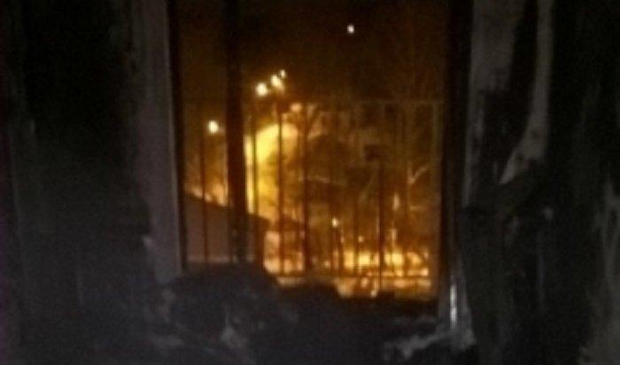 ВИркутске из-за уличной петарды загорелась квартира, вкоторой находились дети
