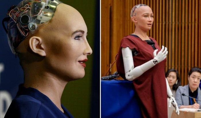 Человекоподобного робота Софию научили ходить
