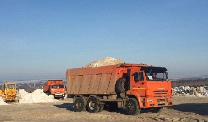 С улиц Иркутска в этом году вывезли около 45 тысяч тонн снега
