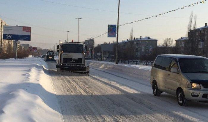 В Ангарске работа по уборке дорог от снега признана неудовлетворительной