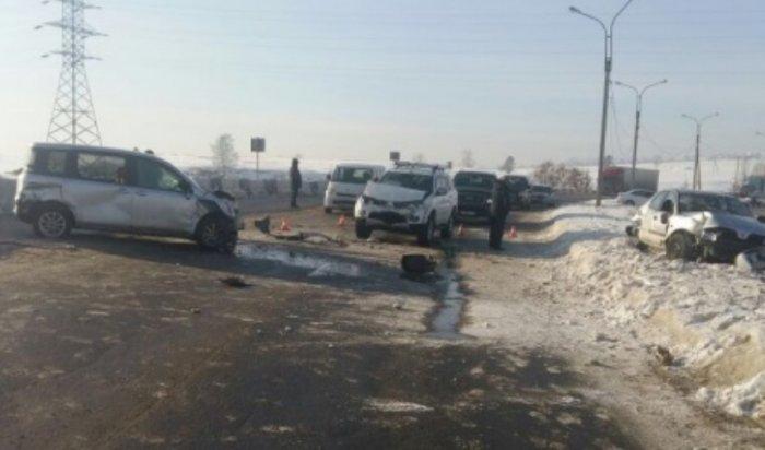Наобъездной дороге микрорайона Ново-Ленино водитель сбила пешехода