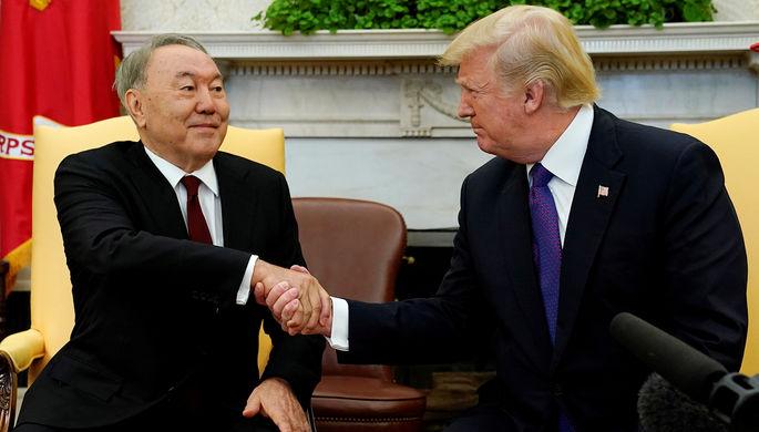 Трамп встретился с Назарбаевым в Белом доме