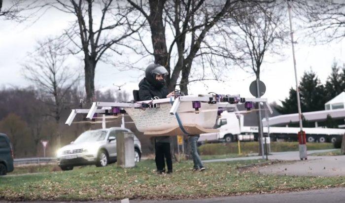 Блогеры из Германии создали летающую ванну (Видео)