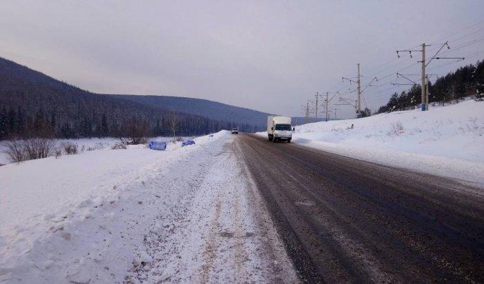 Под Усть-Кутом на федеральной трассе «Вилюй» произошел разлив ядовитого химиката