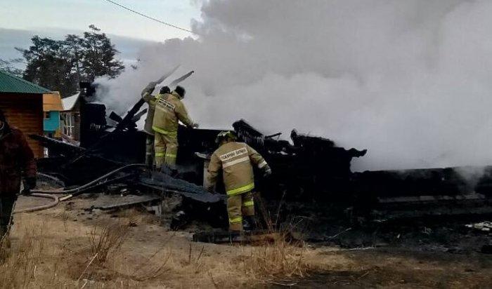 ВИркутской области установлена причина крупного пожара на турбазе вОльхонском районе