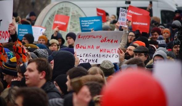 Повсей России вовремя акций Навального были задержаны 340человек