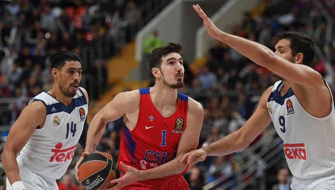 Баскетболисты ЦСКА обыграли «Реал» вматче Евролиги