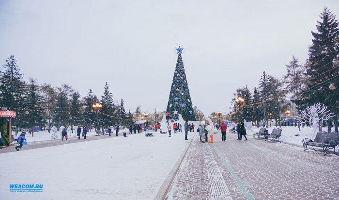 В Иркутске начали демонтировать главную ёлку и ледовый городок