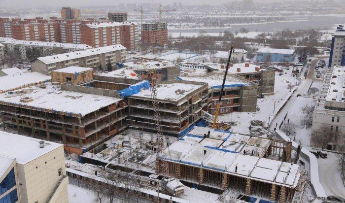 В Иркутске на строительстве школы № 19 готовится запуск отопления