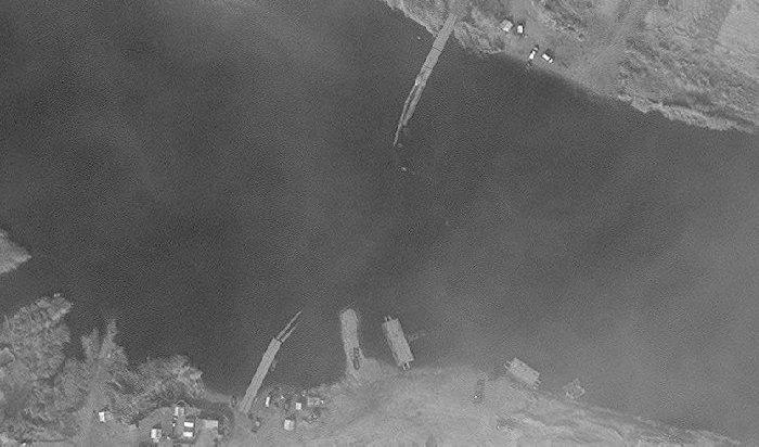 ВСирии обрушился построенный российскими военными мост через Евфрат