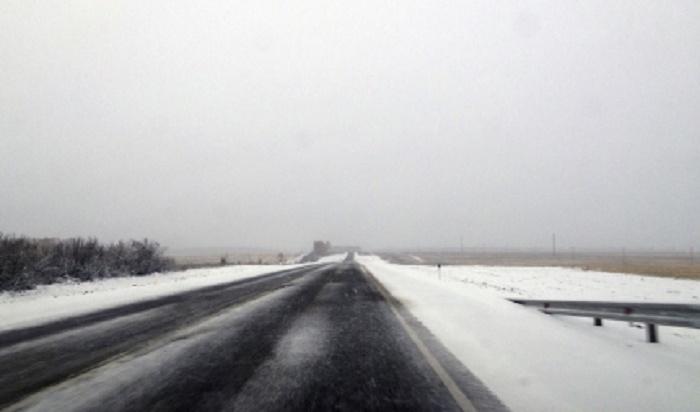 В Шелеховском районе из-за погодных условий ограничено движение на федеральной трассе