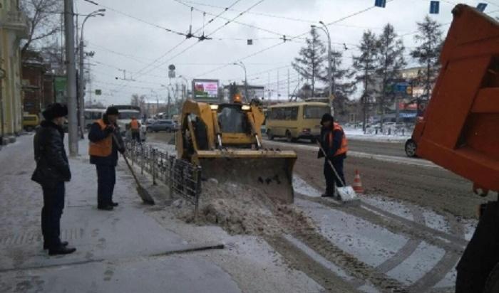 Около 200тысяч тонн снега вывезли сулиц Иркутска сначала года